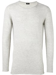 Diesel Crew Neck Jumper Nude And Neutrals