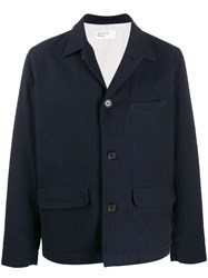 Universal Works Workers Shirt Jacket Blue