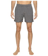 The North Face Class V Pull On Trunk Short Zinc Grey Linen Print Men's Swimwear Gray