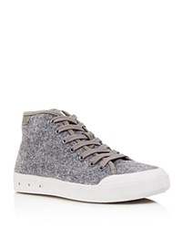 Rag And Bone Standard Issue Wool High Top Lace Up Sneakers Gray