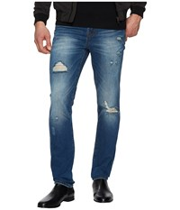 Liverpool Slim Straight With Destruct In Rigid Denim In Waco Destruct Waco Destruct Men's Jeans Blue