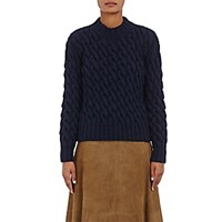 Orley Women's Chunky Cable Knit Sweater Navy