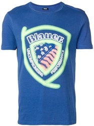 Blauer Graphic Print T Shirt Blue
