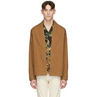 Naked And Famous Denim Ssense Exclusive Brown Kimono Shirt
