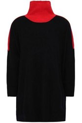 Amanda Wakeley Cashmere And Wool Blend Turtleneck Sweater Black