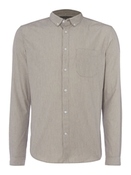 Linea Ascari Fine Stripe Long Sleeved Shirt Off White