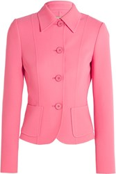 Michael Kors Collection Stretch Wool Jacket Pink