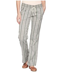 Roxy Oceanside Pants Yarn Dye Thyme South Border Casual Pants Gray