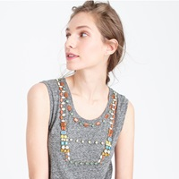 J.Crew Jeweled Bib Tank