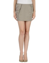 Gold Case Mini Skirts Grey