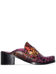 Sophia Webster X Patrick Cox Iconic Snake Effect Mules Pink