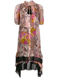 Coach Kaffe Fassett Print Tent Dress Pink