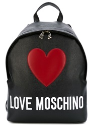 Love Moschino Love Moschino Embroidered Backpack Black