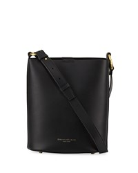 Donna Karan Adan Smooth Leather Bucket Bag Black