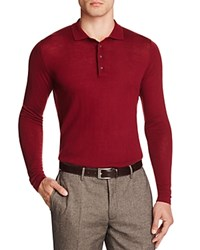 Hardy Amies Merino Slim Fit Polo Crimson