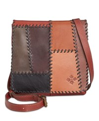 Patricia Nash Patchwork Granada Crossbody Patchwork Chocolate