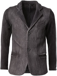 Avant Toi Distressed Blazer Grey