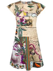 Etro Butterfly Print Flared Dress