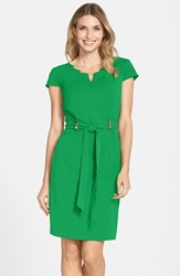 Ellen Tracy Women's Stretch Sheath Dress Kelly Green