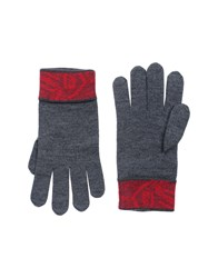 Versace Collection Gloves Brick Red