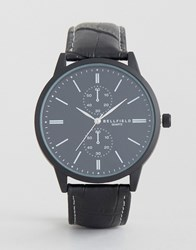 Bellfield Black Watch With Imitation Inner Dials