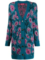 Guardaroba Long Floral Intarsia Cardigan 60