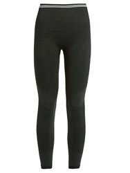 Lndr Seven Eight Compression Performance Leggings Dark Green
