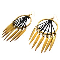 Louise Manna Navajo Sun Earrings Black Gold
