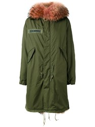 As65 Fur Lined Parka Women Cotton Leather Nylon Calf Hair Xs Green