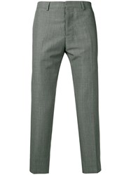 Ami Alexandre Mattiussi Cropped Fit Trousers Grey