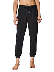 Betsey Johnson Lace Up Cupro Jogger Pants Black