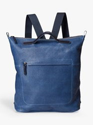 Ally Capellino Mini Hoy Leather Travel Cycle Backpack Navy