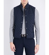 Ralph Lauren Purple Label Diamond Quilted Shell Gilet Navy