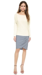 Ramy Brook Isabelle Dress Cloud Slate Silver Chainmail