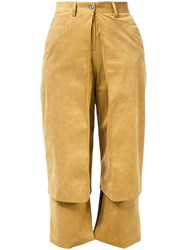 Aalto Layer Effect Trousers Brown