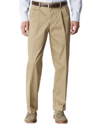 Dockers D4 Relaxed Fit Iron Free Pleated Pants Dark Wheat