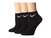 Nike Cotton Cushioned Quarter With Moisture Management 3 Pair Pack Black White Women's Quarter Length Socks Shoes