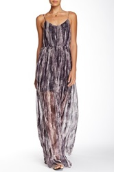 Andrew Marc Painted Wave Maxi Dress Pink