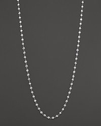 Ippolita Glamazon Sterling Silver Flat Hammered Bead Necklace 40