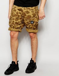G Star G Star Cargo Shorts Rovic Loose Fit Beige All Over Camo Print Toggeebastogneao