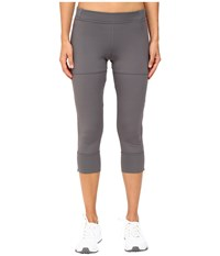 Adidas By Stella Mccartney Studio 3 4 Cool Tights B48932 Granite Women's Casual Pants Gray