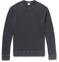 Massimo Alba Garment Dyed Cashmere Sweater Midnight Blue