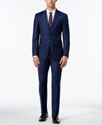 Calvin Klein Men's Extra Slim Fit Navy Flannel Suit