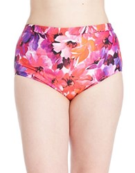 Karen Kane Plus Montego High Waist Bikini Bottom Orange