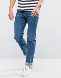 Selected Homme Jeans In Skinny Fit Stretch Denim Medium Blue