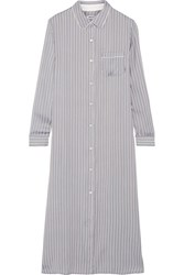 Dkny Striped Satin Nightdress Sky Blue