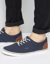 Jack And Jones Vision Canvas Plimsolls Navy