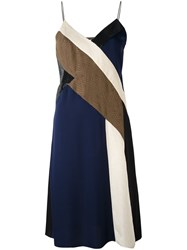 Diane Von Furstenberg Colour Block Dress Brown