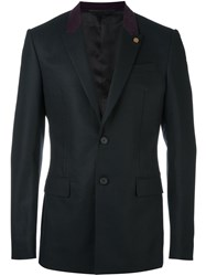 Givenchy Contrast Collar Blazer Black