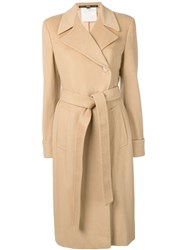 Gianfranco Ferre Vintage 1990 Belted Coat Neutrals